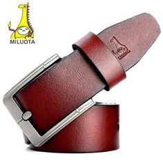 7b4e4ae57 MILUOTA Designer Belts Men Genuine Leather Belt Luxury Man Military Style