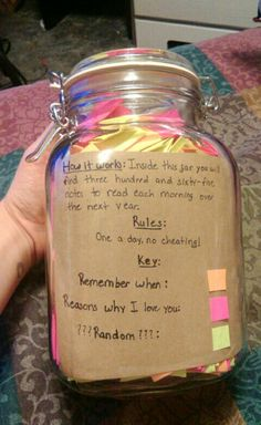 365 day jar - will be done when I have time and really properly value someone…