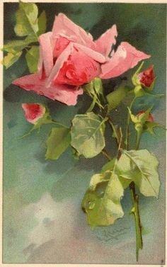 Art painting of roses