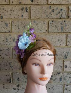 Floral Fascinator OOAK Flower Fascinator Kentucky Derby Bridal Headbands, Bridal Fascinator, Melb Cup, Floral Fascinators, Kentucky Derby, Trending Outfits, Unique Jewelry, Handmade Gifts, Girls