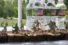 Cupcakes with mud for an army party