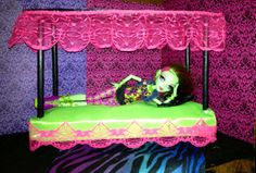 Hey, I found this really awesome Etsy listing at https://www.etsy.com/listing/164753074/monster-high-furniture-canopy-doll-bed