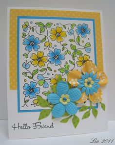 luv the happy feeling of bright yellow and turquoise...