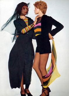 Willy Van Rooy and Donna Mitchell by Chris von Wangenheim Vogue Italia 1971