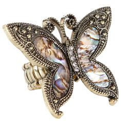 Get retro style with this cool butterfly ring!