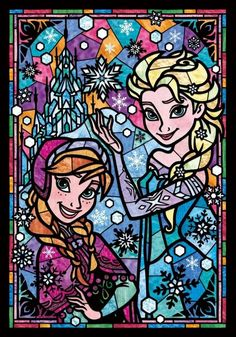 Frozen stain glass window