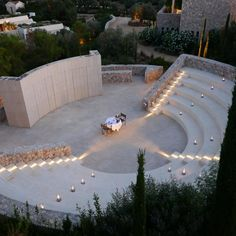 One of the most unique culinary settings for your personalised Greek Degustation Menu: The Amphitheatre at Outdoor Stage, Outdoor Theater, Park Landscape, Lawn And Landscape, Landscape Architecture Design, Concept Architecture, Amphitheater Architecture, Desert Resort, Open Air Theater