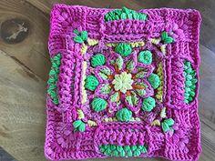 Ravelry: Karoo Vintage MAL pattern by Jen Tyler Crochet Mandala Pattern, Crochet Lace Edging, Crochet Square Patterns, Crochet Blocks, Crochet Stitches Patterns, Crochet Squares, Crochet Designs, Crochet Potholders, Blanket Patterns