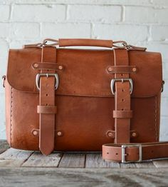 No. 29 Old World Leather Satchel by Stock & Barrel on Scoutmob Shoppe