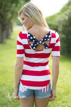 Striped in Pride in Red - want this shirt for the 4th of July
