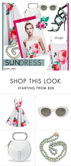 """""""Lili Claspe - Sundress """" Rosegal Contest"""""""" by goreti ❤ liked on Polyvore featuring Acne Studios, 3.1 Phillip Lim and vintage"""