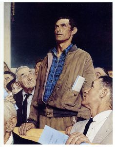 1943 - Freedom of Speech - by Norman Rockwell | Flickr - Photo Sharing!