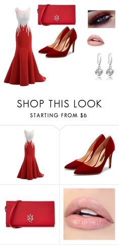 """""""fury red"""" by abbylud on Polyvore featuring Rupert Sanderson and Alexander McQueen"""