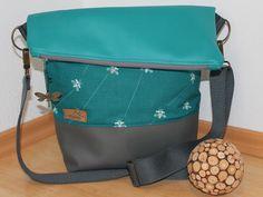"""Umhängetaschen - Foldover-Handtasche """"Wanderlust_1"""" - ein Designerstück von Bergbluemle bei DaWanda"""