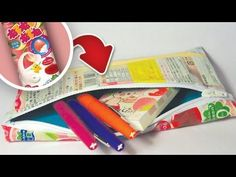[NO-SEW] CANDY WRAPPER ZIPPER POUCH - YouTube