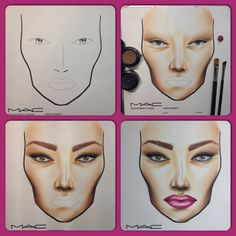 Step by Step facechart. From pinkcolours.ch Follow me on IG: http://instagram.com/pinkcolours_makeup
