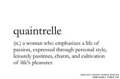 Me - in one word.