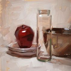 "Daily Paintworks - ""Youre So Transparent"" - Original Fine Art for Sale - © Carol Marine"
