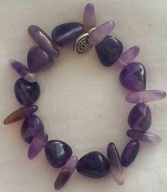 Pulsera de piedras naturales, natural stone bracelet, amatistas