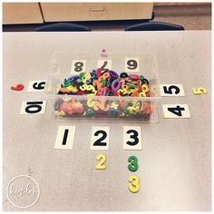 A Pinch of Kinder - Sorting Centre - Can You Sort by Number? - Preschool Math - A Pinch of Kinder – Sorting Centre – Can You Sort by Number? Numbers Kindergarten, Numbers Preschool, Math Numbers, Preschool Lessons, Preschool Classroom, Preschool Learning, Teaching Math, Preschool Activities, Decomposing Numbers