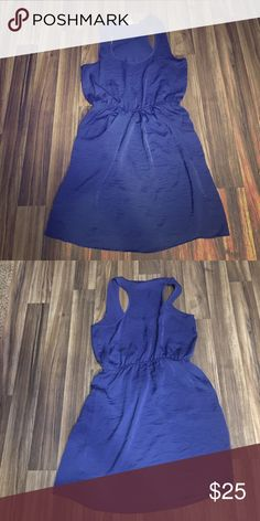 Necessary Objects Short Dress Really cute racerback dress. Silky feel. Banded at the waist. Scoop neck on front. Dry clean only. 💯 polyester. Necessary Objects Dresses Midi