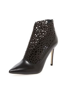 Maurice Laser-Cut Leather Bootie by  Jimmy Choo.  $600 on Gilt