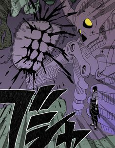 Sasuke uchiha with the susano vs Danzo