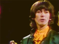 """just a minute, just a minute"""" George Harrison on The Smothers Brothers Comedy Hour in John Lennon Beatles, The Beatles, Beatles Funny, Liverpool, Great Bands, Cool Bands, The Rock, Rock And Roll, Smothers Brothers"""