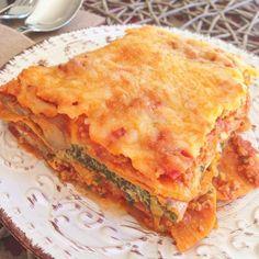 Italienische Low Carb Rezepte Lasagne aus Süßkartoffeln