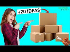 20 CARDBOARD BOXES IDEAS (RECYCLING PROJECTS) 😍💚♻ - YouTube Cardboard Furniture, Cardboard Crafts, Cardboard Boxes, Rope Crafts, Easy Crafts, Diy Makeup Organizer Cardboard, Sewing Box, Youtube, Covered Boxes