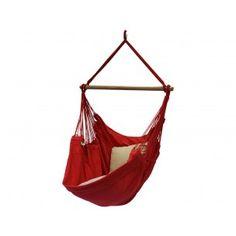 Hangstoel Deep Red. € 99,99 Hangstoel met prachtige diep rode kleur. Topkwaliteit Braziliaanse hangstoel met een enorm lange levensduur. De decoratieve hangstoelen zijn ideaal om in te luieren of een boek te lezen.