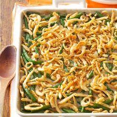 Green Bean Casserole Recipe from Taste of Home -- shared by Anna Baker of Blaine, Washington  #Thanksgiving