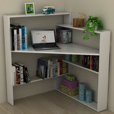 home decor - 23 DIY Corner Desk Ideas To Maximize Your Space Diy Corner Desk, Shelves, Home Projects, Interior, Home, Home Furniture, Furniture For Small Spaces, Home Diy, Space Saving Furniture