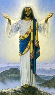 Browse all of the Black Jesus photos, GIFs and videos. Find just what you're looking for on Photobucket Black Jesus Pictures, Black Art Pictures, Religious Images, Religious Art, Religious Tattoos, African American Art, African Art, Blacks In The Bible, Miséricorde Divine