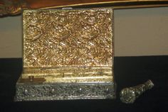 Vintage Embossed Gilt Writing Box w Seal by SuzsCollectibles