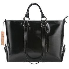 9697ca7c18 S-Zone Women'S Genuine Leather Work Tote Laptop Shoulder Handbag Messenger  Bag Fit 14 Laptop