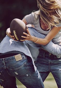 Haha I love playing football with the boys <3 ➴❁ Bella Montreal ❁➶