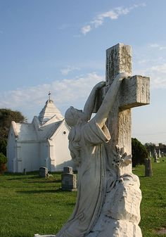 Galveston, Texas has several famous old cemeteries.  Remember 6,000 people died in the Great Hurricane of 1900.
