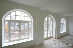 نتيجة بحث الصور عن نوافذ المنيوم 2015 Home Room Design, Design Bedroom, Open Layout, Arched Windows, Door Knockers, Window Design, Living Room Modern, Ceiling Design, Home Decor Furniture