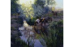 Watering Place, by Valoy Eaton, Midway Utah http://eatonimpressions.com/
