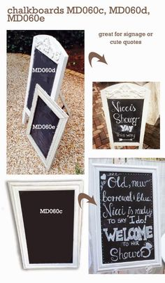 Chalkboards to rent from Moi Decor
