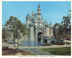 "Sleeping Beauty Castle Disneyland 1950s Union Pacific Railroad Colorphoto Print 10"" x 12.5"" Anaheim California by vintagebarrel on Etsy https://www.etsy.com/listing/200690008/sleeping-beauty-castle-disneyland-1950s"
