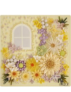Flowers Blooming by a Window by Artist Manami Uemura