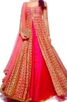 Best 15 Latest Lehenga Kurta Designs for Women: For Eid & Festivals) Hot pink net kurta with lehenga: 15 Latest lehenga kurta designs for women for modern look for weddings, receptions, festivals and both Indian and pakistani style Party Wear Evening Gowns, Gown Party Wear, Party Wear Indian Dresses, Designer Party Wear Dresses, Indian Gowns Dresses, Kurti Designs Party Wear, Indian Designer Outfits, Pakistani Dresses, Indian Outfits