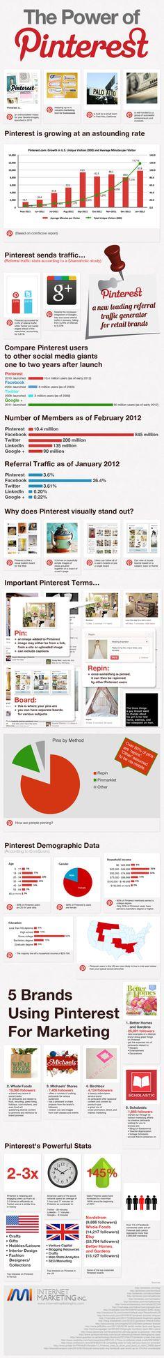 Pinterest Infographic  The power of Pinterest