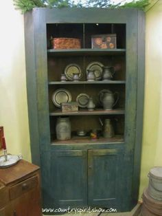 cupboard at Country Spirit antique show, IL