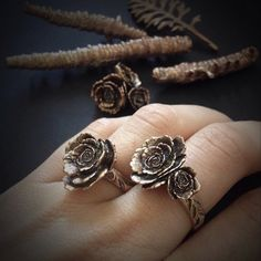 Bronze Rose Ring  designed and cast in my Austin by JamieSpinello