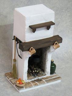 Poppenhuis miniatuur Fire  Tudor / middeleeuwse / Cottage