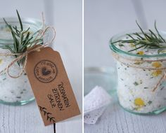 ( Puppenzimmer ): Mitbringsel | Rosmarin-Zitronen-Salz