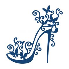High Heel Glam Metal Die Cut stencil Tattered Lace Craft Cutting Dies Shoe,Women for sale online Tattoo Painting, Stencils, Lace High Heels, Scan And Cut, Shoe Art, Silhouette Projects, Hobbies And Crafts, Paper Cutting, Die Cutting